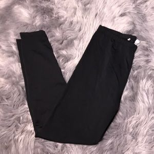 Ann Taylor loft basic black leggings large